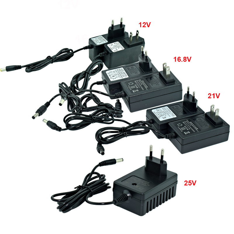 12V 16.8v 21v 25V Lithium Battery Electric Drill  Electric Screwdriver Battery Charger EU/US Plug Screw Driver Charger