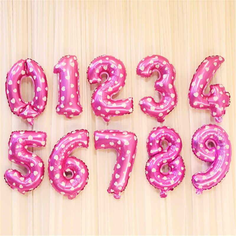 40 compleanno unicorno partito Palloncini numero balloon Air Balloon birthday party decorazioni bambini Figura globos buon compleanno balon