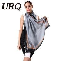 URQ Big Size Spring Casual Style Scarf Women Shawls Soft Silk Scarfs Scarf Woman Wraps
