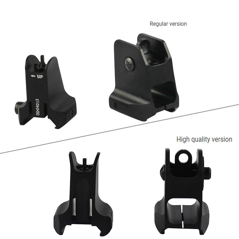 Image 2 - Tactical Fixed Front & Rear Sight Streamline Design Standard AR15 Apertures Iron Sights BK Hunting accessoriesrear sightiron sightsaperture sights -