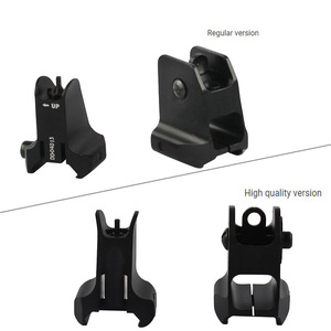 Image 2 - Tactical Fixed Front & Rear Sight Streamline Design Standard AR15 Apertures Iron Sights BK Hunting accessories