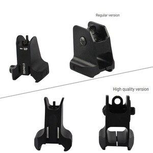 Image 2 - Taktik sabit ön ve arka Sight düzene tasarım standart AR15 delikli demir manzaraları BK avcılık aksesuarları