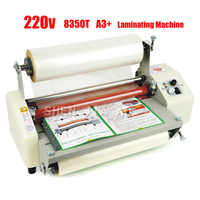 13th 8350T A3+ Four Rollers Laminator Hot Roll Laminating Machine,High end speed regulation laminating machine