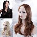 "Full Wigs Women's 22"" (56cm) Dark Black Brown Blonde Long Wavy Kanekalon Heat Resistant Costume Daily Dress Wig"