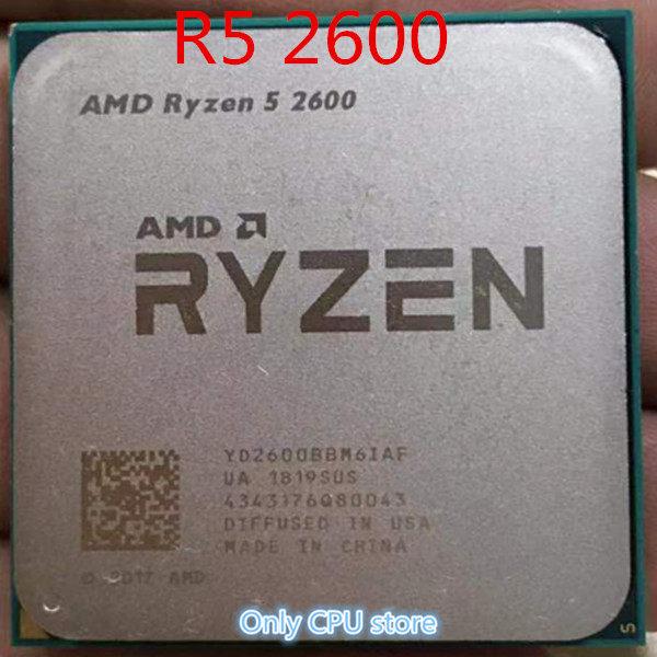 AMD Ryzen 5 2600X R5 2600X 3 6 GHz Six-Core Twelve-Thread 95W CPU Processor  YD260XBCM6IAF Socket AM4