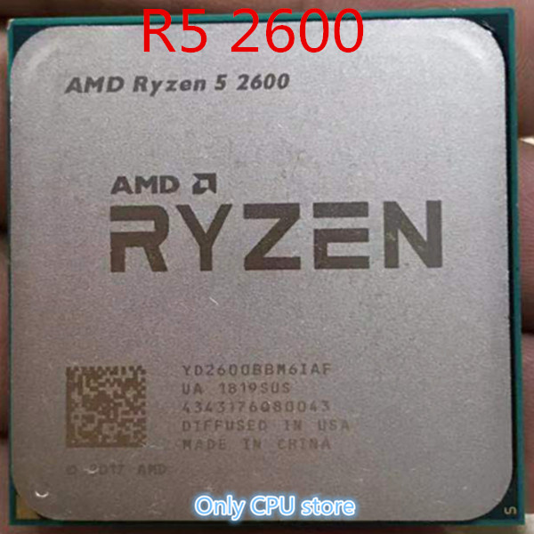 AMD RYZEN 5 2600X 6 Core 3.6GHz 16MB Socket AM4 Desktop Processor CPU