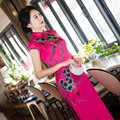 TIC-TEC chinese cheongsam long qipao print vintage fashion women tradicional oriental dresses party weeding clothes C3004