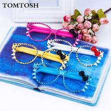 1 Pieces Korea Stationery Cute Glasses Cartoon Creative Bow Spectacles Ballpoint Pens Wholesale