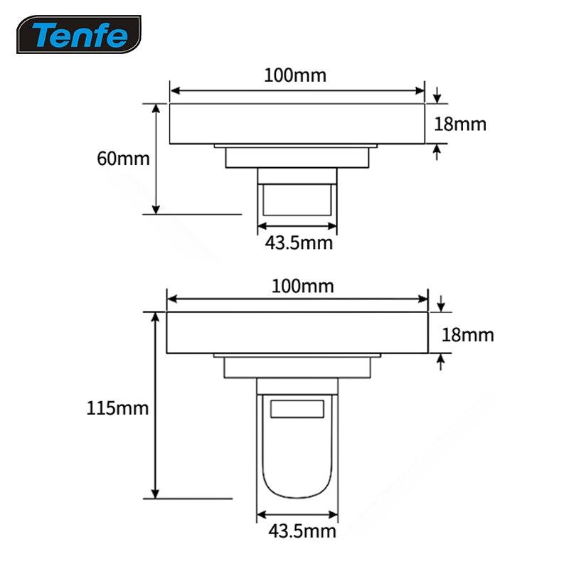 Drain de plancher de contact de cuivre contre la puanteur, le couvercle d'égout de douche de drain de plancher de salle de bains - 3