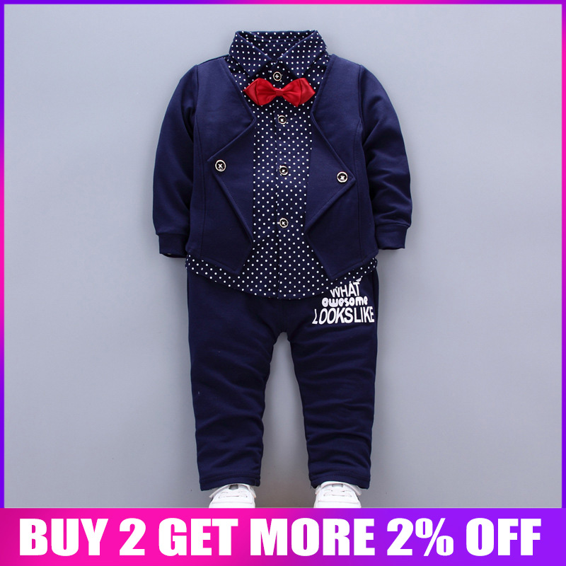 BibiCola Baby Tracksuit Kids Boys Clothing Set Spring Autumn Fake Two Tops+Pants 2pcs Set Toddler Gentleman Boys Clothes SuitBibiCola Baby Tracksuit Kids Boys Clothing Set Spring Autumn Fake Two Tops+Pants 2pcs Set Toddler Gentleman Boys Clothes Suit