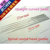 medical orthopedic instrument Spinal round head probe straight pointed curved head Stainless steel hard probe Protector detector