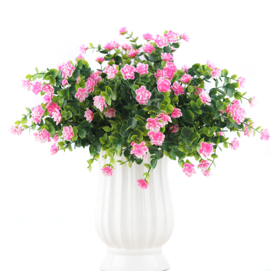 Aliexpress Buy Pink Rose Red Mini Artificial Plants Plastic