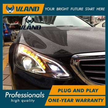 VLAND factory for Car head lamp for E-class E180 LED Headlight 2014-2016 for E200 E260 W212 Head light with HID xenon lens DRL