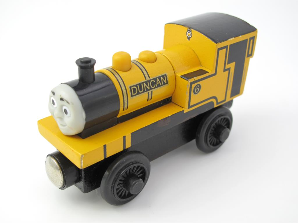 Wooden Thomas Train T046W DUNCA Thomas And Friends Trackmaster Magnetic Tomas Truck Car Locomotive Engine Railway Toys for Boys