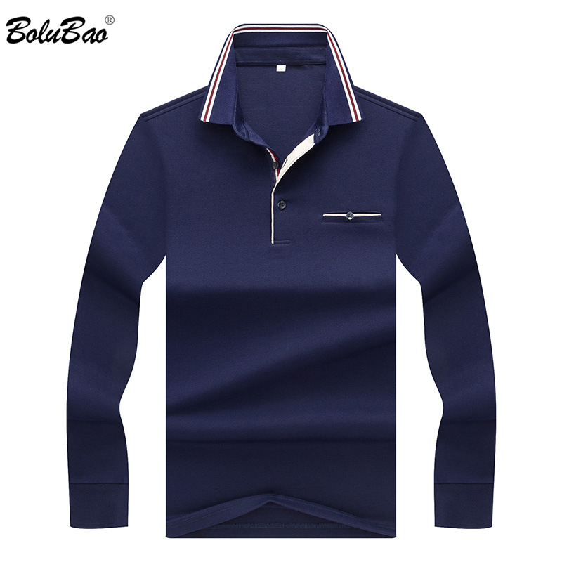 BOLUBAO Fashion   Polo   Shirt Men's Top 2019 Spring Autumn Men   Polo   Shirts Long Sleeve Casual Shirts Male Solid Color Shirts