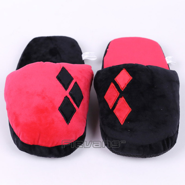 f72072625ddb69 DC Comics Batman Harley Quinn Plush Slippers Soft Toys Home Indoor Floor  Winter Women Plush Shoes 2 Types