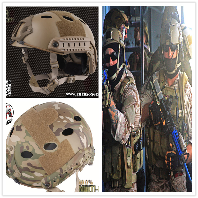Army Military Tactical Helmet Cover Casco Airsoft Helmet Accessories Emerson Paintball Fast Jumping Protective Face Mask
