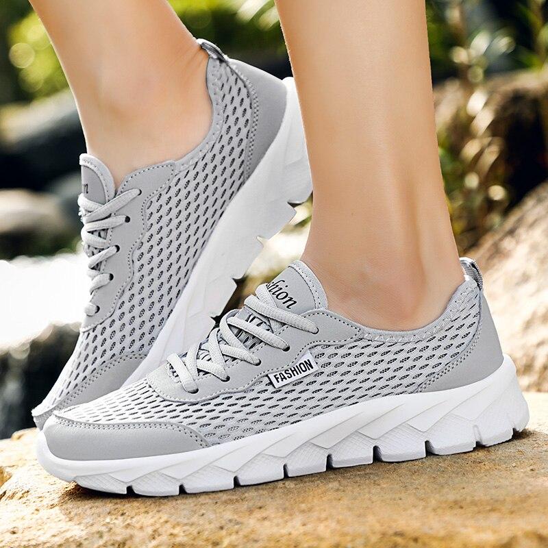2019 gray Lace dark Black Homens Para Feminino Confortáveis Tenis De Leves Casuais blue Malha Caminhada Respirável Tênis Sapatos gray Outono Zapatos up rwRF0S1rx