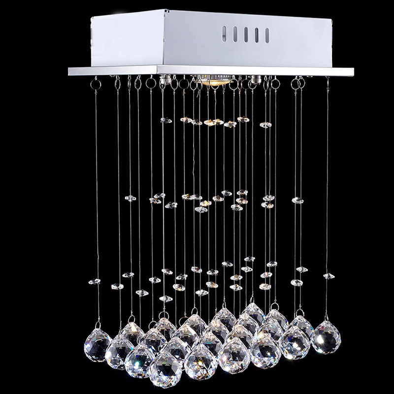 NAVIMC Modern LED Ceiling k9 Crystal Chandeliers Lighting for Dining Room Living Room Bedroom Pendant Lamp Wave Shape