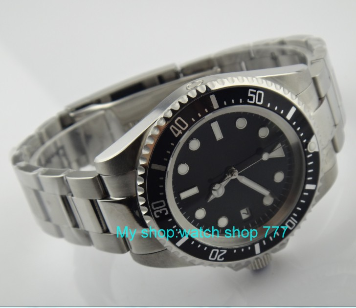 42mm Parnis Black dial black Bezel Automatic Self-Wind Mechanical watches Luminous Men's Watch 265 цена и фото