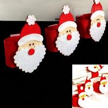 4pcs santa claus grandpa napkin rings holder christmas home decoration xmas dinner tableware new year party