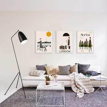 Современный дизайн, торшер, люстры для гостиной, спальни, фойе, стоячий светильник, светильники, Декор, Домашний Светильник, черный металл, E27...