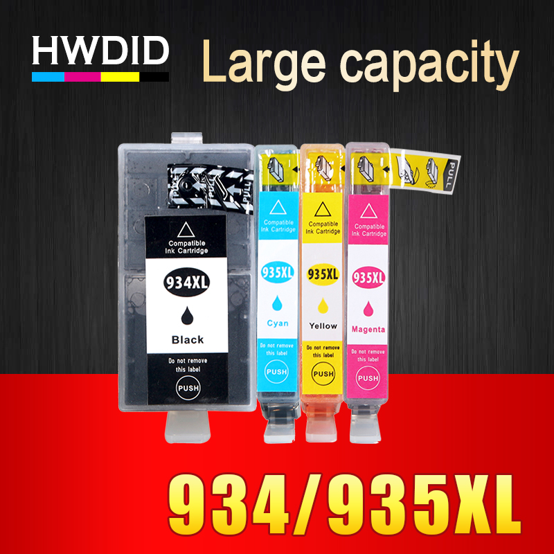 HWDID 934XL 935XL Compatibele inktcartridge vervangen voor HP 934 935 voor HP Officejet pro 6230 6830 6835 6812 6815 6820 printer