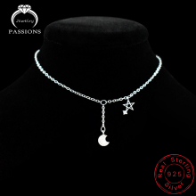 New Arrival 925 Sterling Ladies Silver Anklet Bracelets With Popular Constellation Symbol Pendant For Women & Girl-jewelry