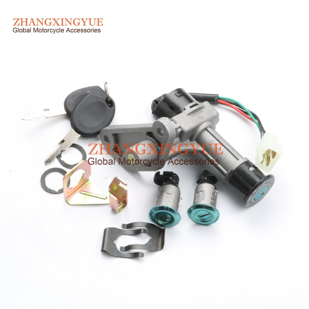 Scooter Ignition Key Swatch Lock Set For GY6 Motorcycle Scooter Moped 50cc 125cc 150cc