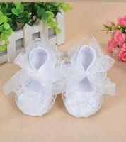Baby Girl White Ivory Lace Christening Shoes Satin Baptism Wedding Flower Girl