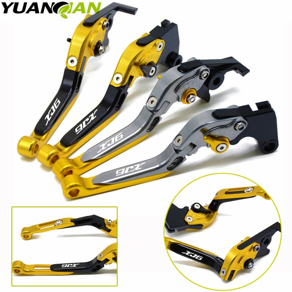 Laser Engraved Logo For YAMAHA XJ6 DIVERSION 2009 2010 2011 2012 2013 2014 2015 CNC Adjustable Motorcycle Brake Clutch Levers