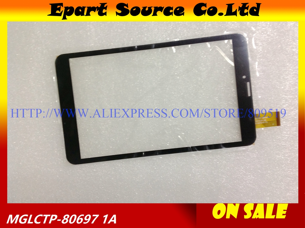 A+ black/white 8inch Tablet PC Capacitive touch screen Glass Panel MGLCTP-801126-80697FPC MGLCTP-8069 204x120mm