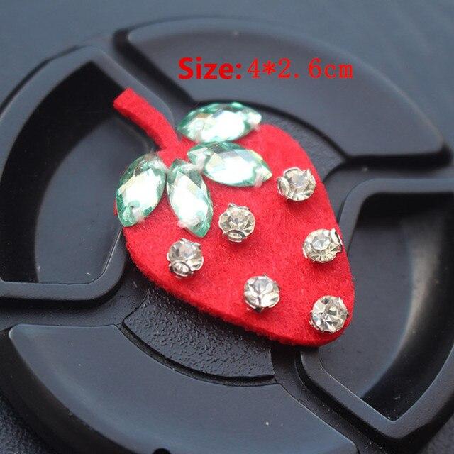 Новое высококачественное клубника вышивка брошь Симпатичные Фрукты патчи для платье девушки воротник Клубника патч