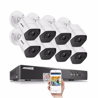 ANNKE Full HD 8CH 1920 1536 CCTV System 8pcs 3MP Security Camera IR Outdoor Waterproof 3MP