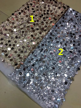 nigerian tulle lace fabric with sequins French Net Lace Fabric sequins ZH-52031  embroidery mesh fabric