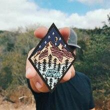 Лагерь жизни вышитый патч Открытый Кемпинг природа любящий значок аппликация Железный пришить патч