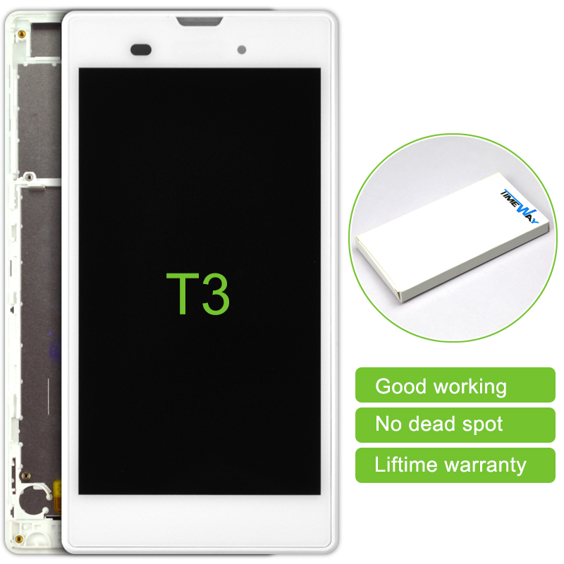 Alibaba China Highscreen 10Pcs/lot For Sony Xperia T3 M50w Lcd Display Touch Screen Digitizer With Frame Assembly Free Shipping alibaba china 2 pcs black white lcd display touch screen digitizer without frame assembly for sony xperia z3 mini free shipping