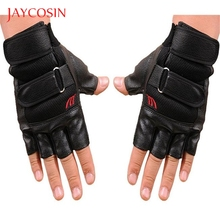 JAYCOSIN Half Finger Men Gym Exercise Training Fitness Sports  Leather