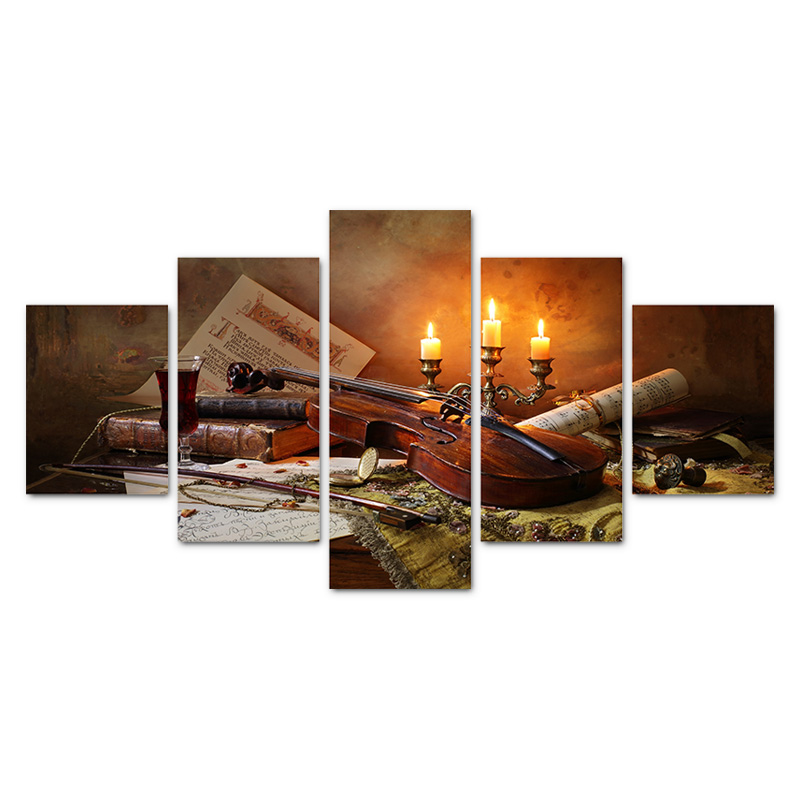 hdartisan peas livro de piano vinho arte da parede da lona fotos para sala de