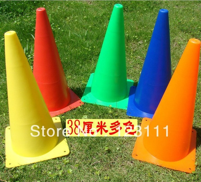 "15"" Soccer Football Cross Dog Training Cones Track Sport Marking Cone Agility Marker Cone Coaching Aids skating,skateboard,BMX"