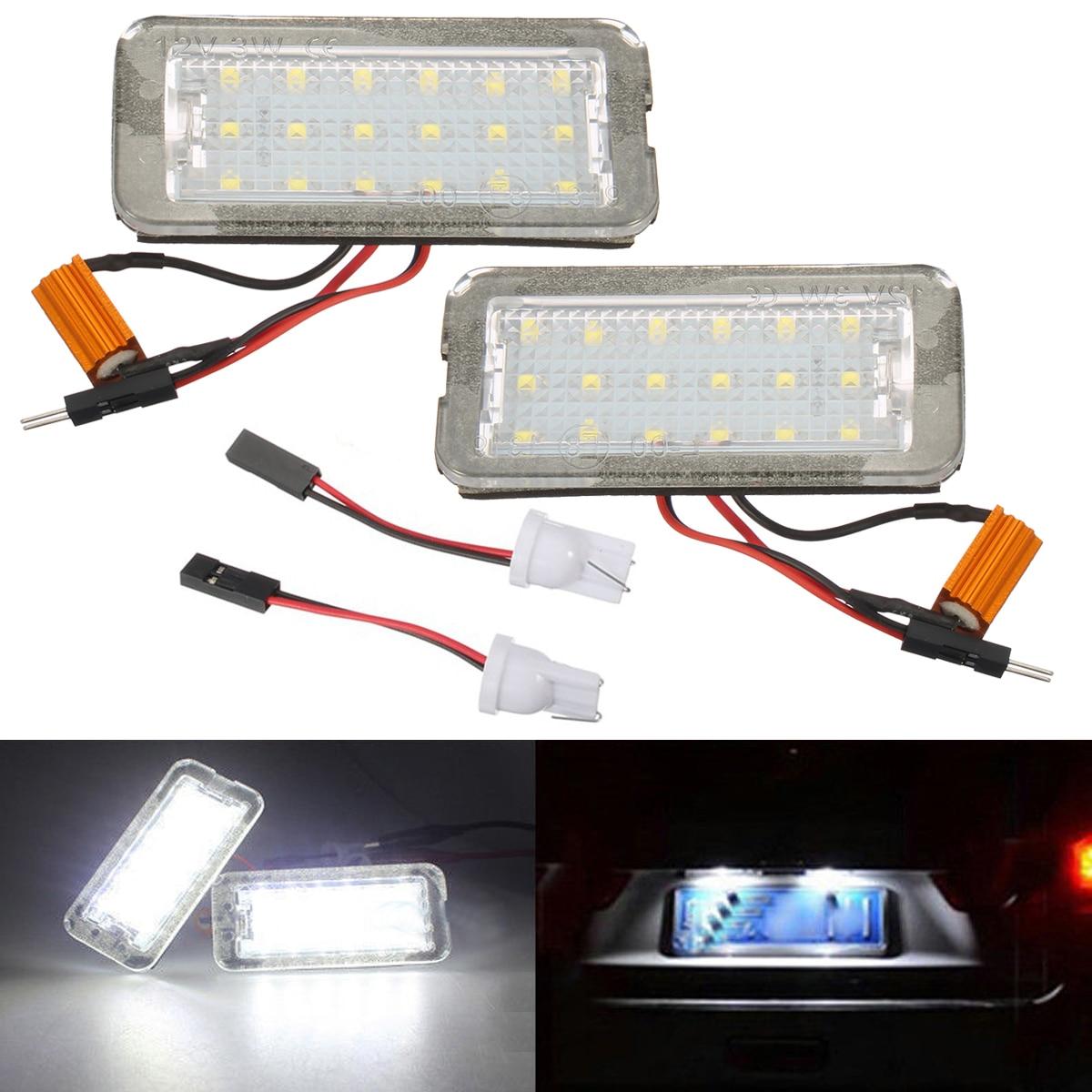 Hot Sale Error Free White Led Number Car License Plate Lights Lamp Wiring Light New 12v Licence For Fiat 500 500c Color