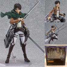 "Attack on Titan Eren Jaeger Anime Figure Figma Brinquedos 207 Juguetes 6"" PVC Action Figure Collectible Model Toys"