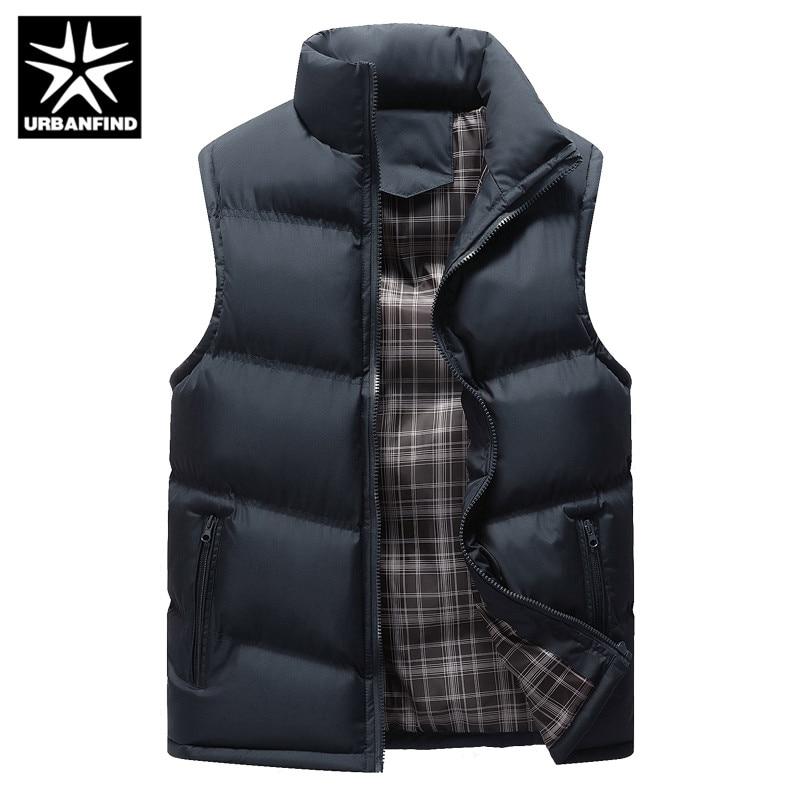 Men's Sleeveless Jacket New Fashion Thicken Cotton Vest Autumn Warm Vest Winter Male Waistcoats Men Casual Windbreakers