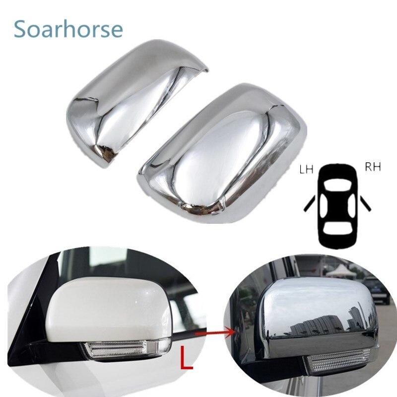 Soarhorse For Mitsubishi Pajero V73 V77 V93 V97 V87 2008 2018 side mirror cover Rearview mirror
