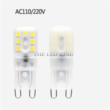 G4 G9 Led Light Bulbs Dimmable 220V 9 12 14 22 LEDs SMD2835 Home Lighting For Crystal Chandelier Replace Halogen Lamp(China)