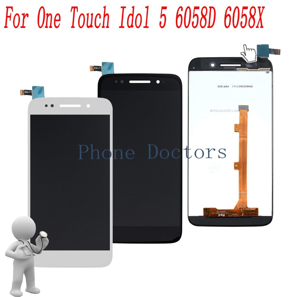 5.2 Full LCD DIsplay+Touch Screen Digitizer Assembly For Alcatel  One Touch Idol 5 6058 6058D 6058X 6058A5.2 Full LCD DIsplay+Touch Screen Digitizer Assembly For Alcatel  One Touch Idol 5 6058 6058D 6058X 6058A