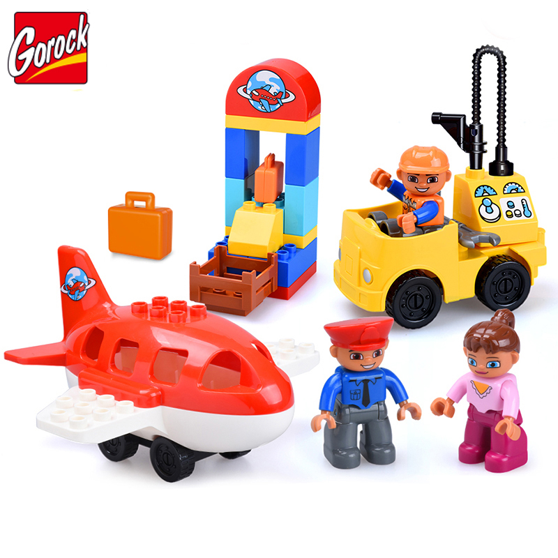 37pcs Large Particles DIY Color Building Blocks Bricks Educational Toys For Children Christmas Gifts Compatible legoe duplo Toy new diy model technical robot toys large particle building blocks kids figures toy for children bricks compatible lepins gifts