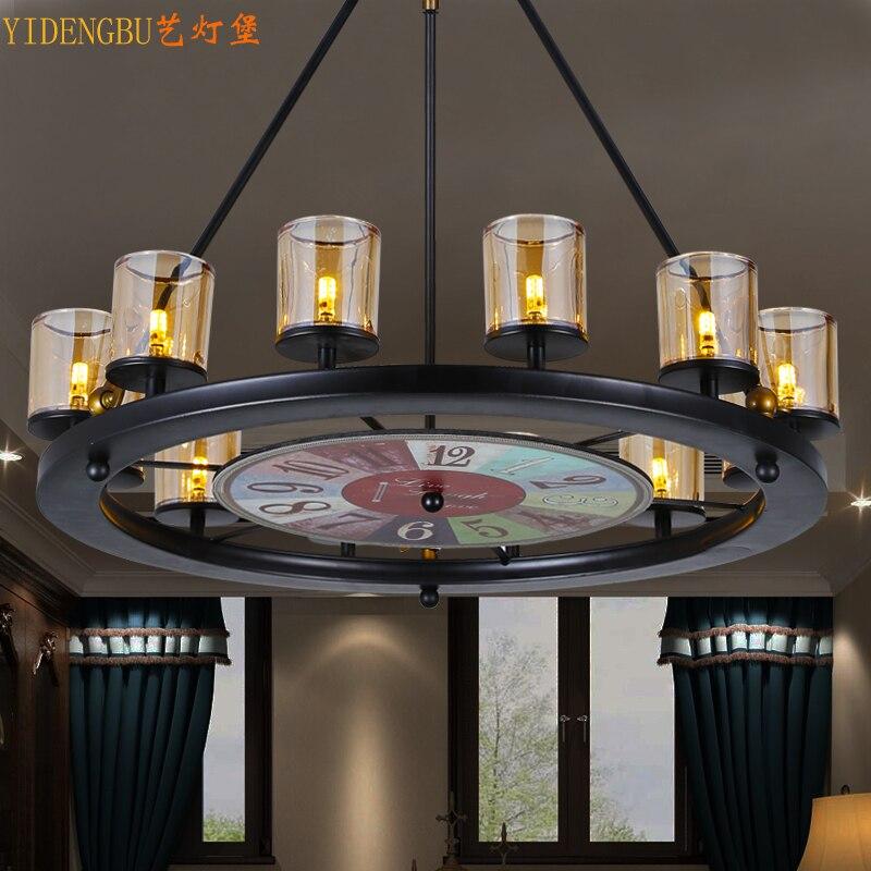 Древних путей, кованого железа лампы droplight личность кафе бар, гостиная легкой промышленности ветер Интернет кафе