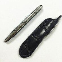 Получить скидку Новое поступление 9 см мини шариковая ручка Крокодил офиса Роскошные Металл роллер ручки 1 ручка + 1 learther сумка + 1 случай