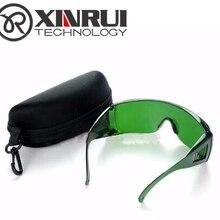 Высокое качество 340nm-1250nm Лазерная Защитная googles лазерная защита оборудование синий фиолетовый защита+ футляр для очков